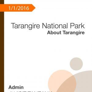 Tarangire National Park – About Tarangire