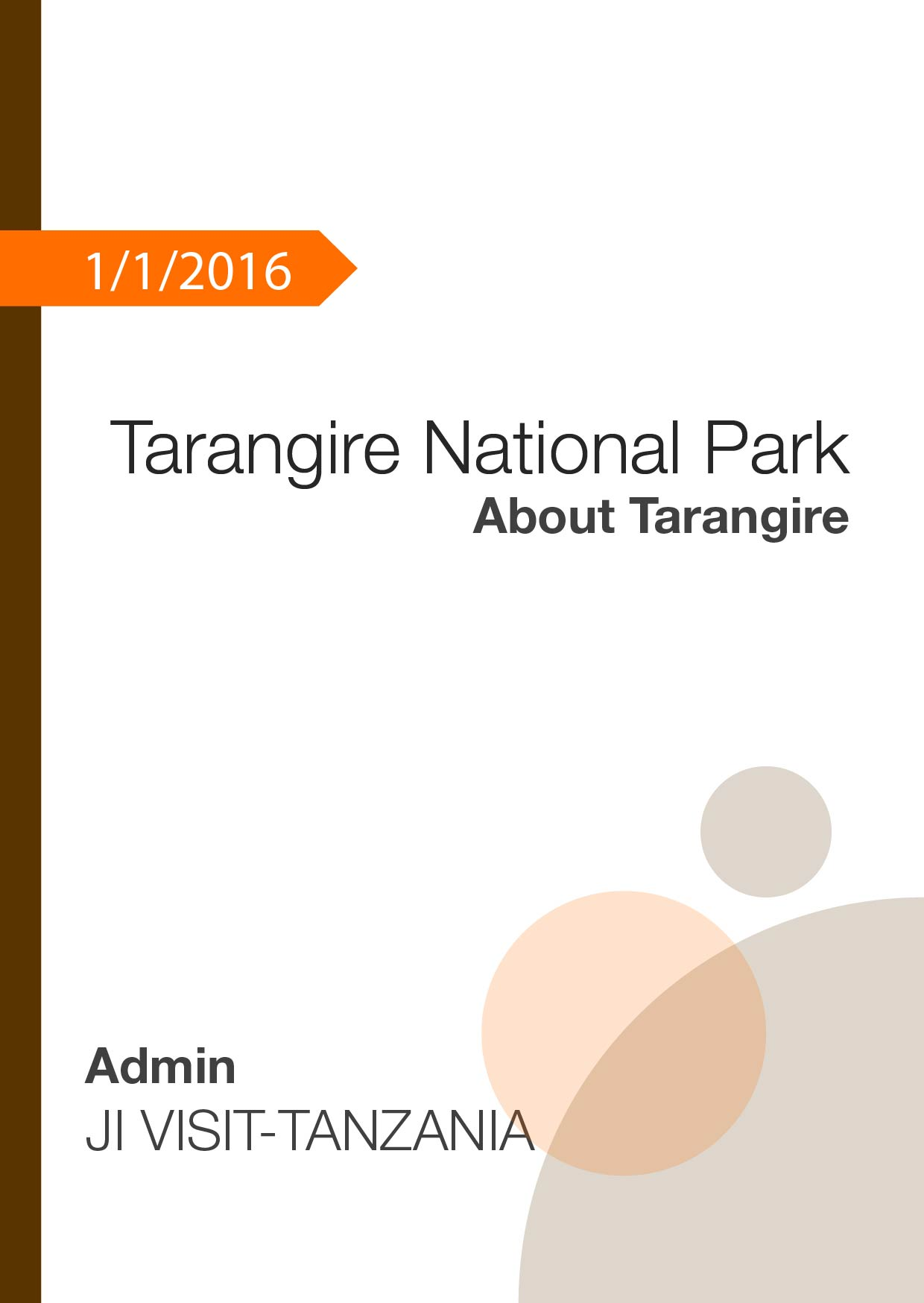 Tarangire National Park – About Tarangire